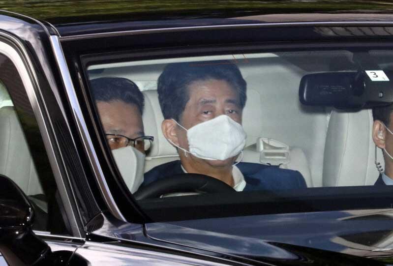 慶応病院に入った安倍晋三首相